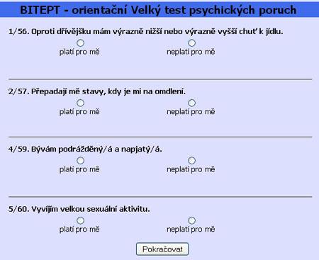 test duševních poruch